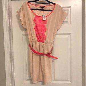 Never worn! Express pink and blush minidress